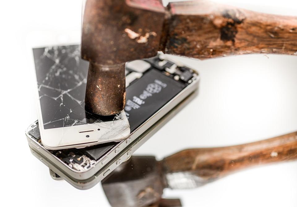 réparation d'un téléphone portable